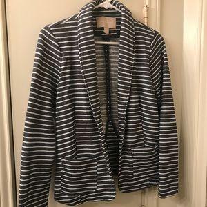 Banana Republic striped cotton blazer